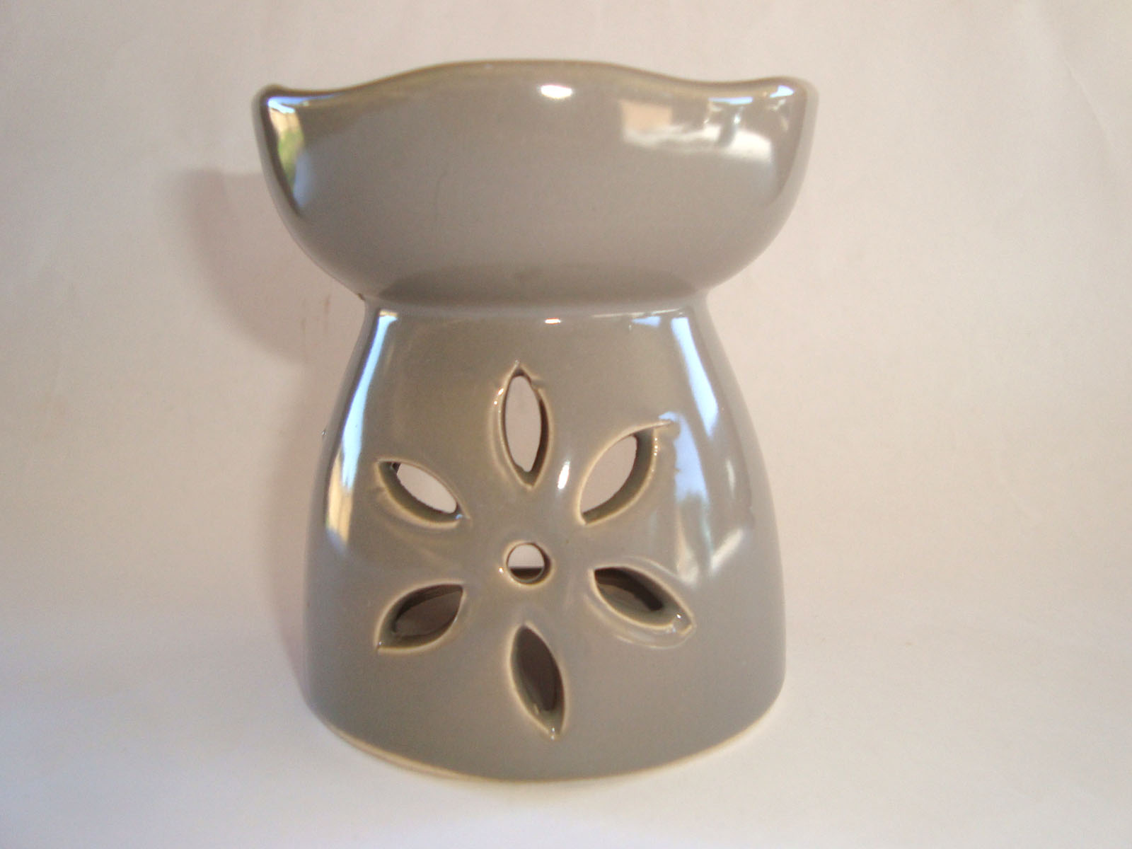 Small Oil Burner - Cut Flower - Grey