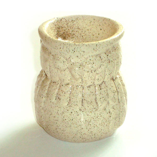 Small Oil Burner - Owl - Cream