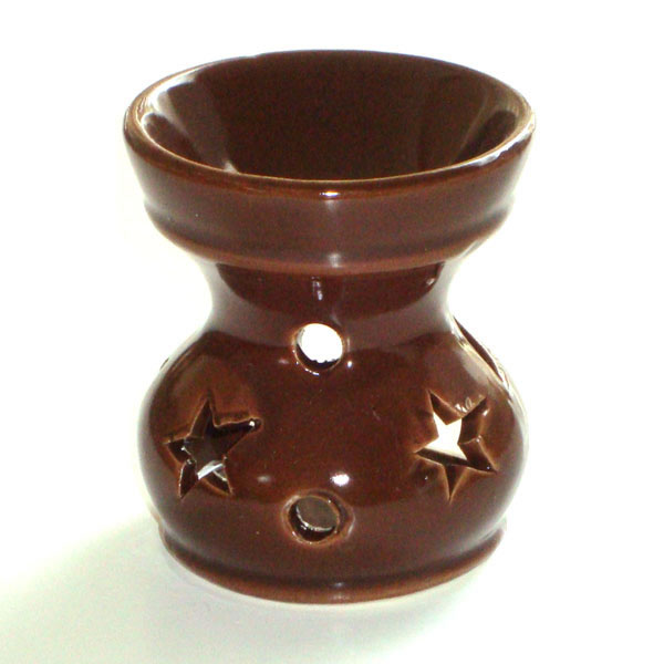 Small Oil Burner - Star - Brown