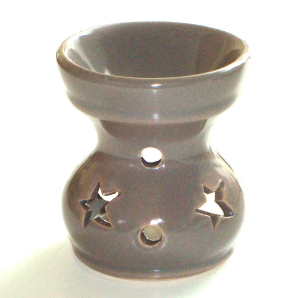Small Oil Burner - Star - Grey