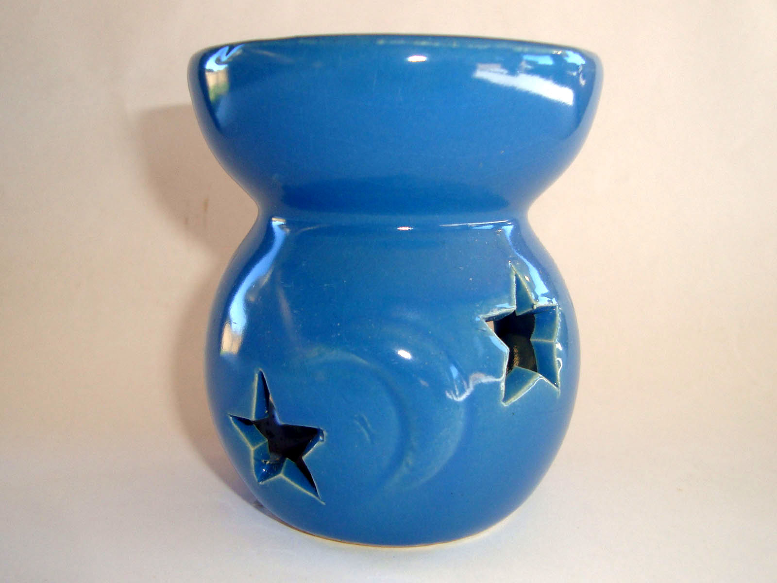 Small Oil Burner - Star Moon - Blue