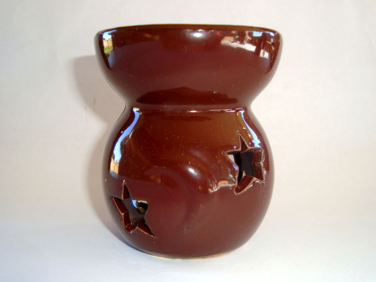 Small Oil Burner - Star Moon - Brown