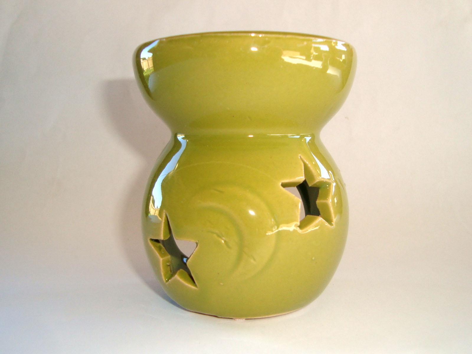Small Oil Burner - Star Moon - Lime