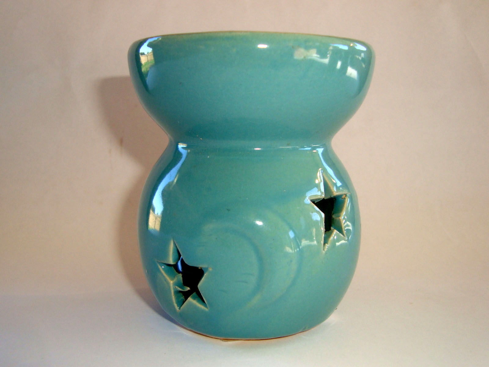 Small Oil Burner - Star Moon - Teal