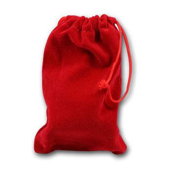 Velvet Bags RED MEDIUM x 5