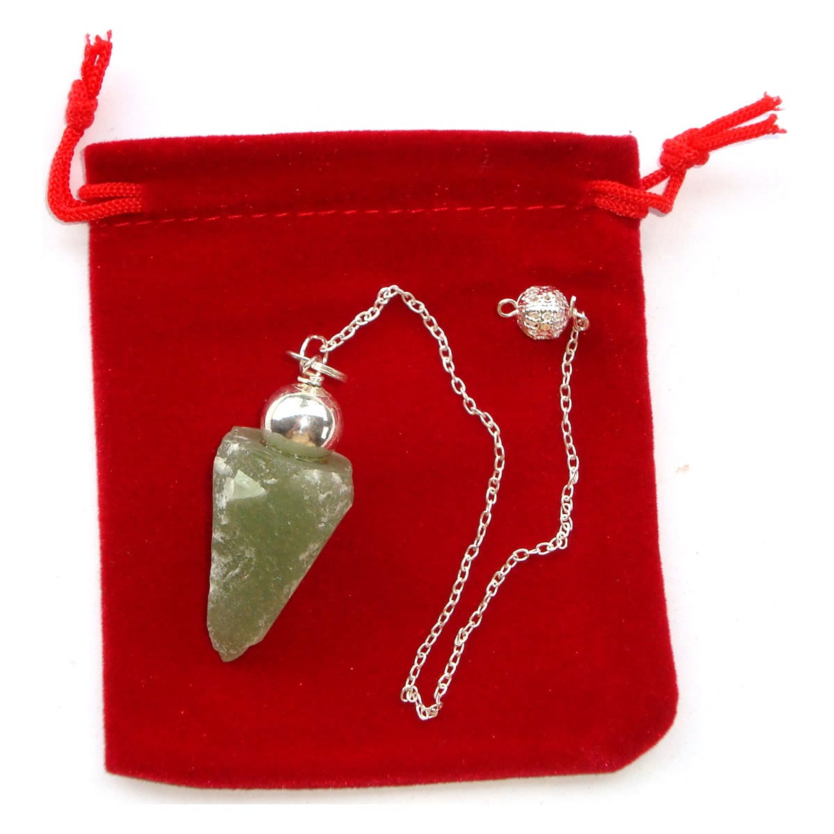Crystal Pendulum - NATURAL GREEN ADVENTURINE