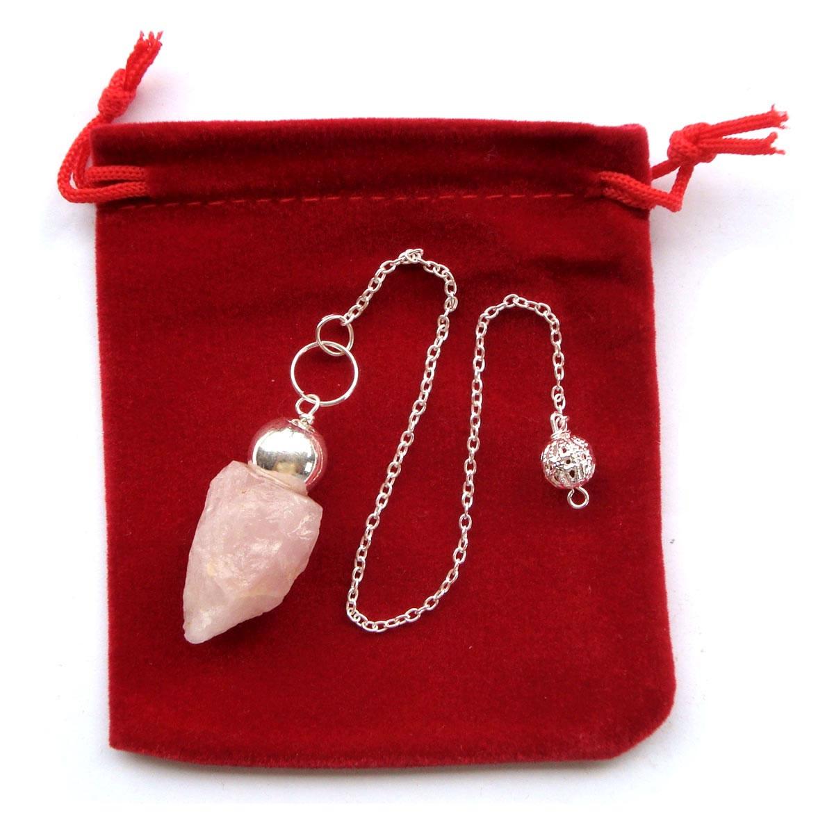 Crystal Pendulum - NATURAL ROSE QUARTZ