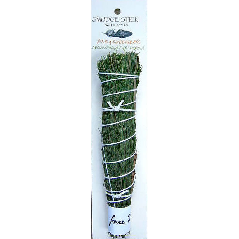 Crystal Magic Smudge Stick - Pine & Sweetgrass