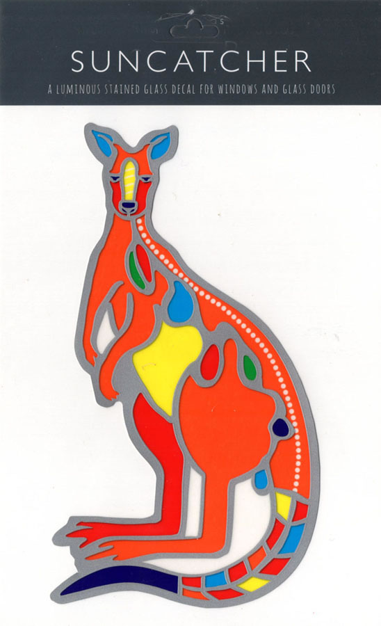 Decal / Window Sticker - Suncatcher KANGAROO