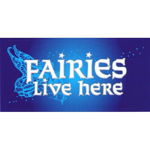 Decal / Window Sticker - Sunlight FAIRIES LIVE HERE