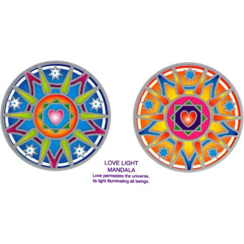Decal / Window Sticker - Sunlight LOVE LIGHT MANDALA