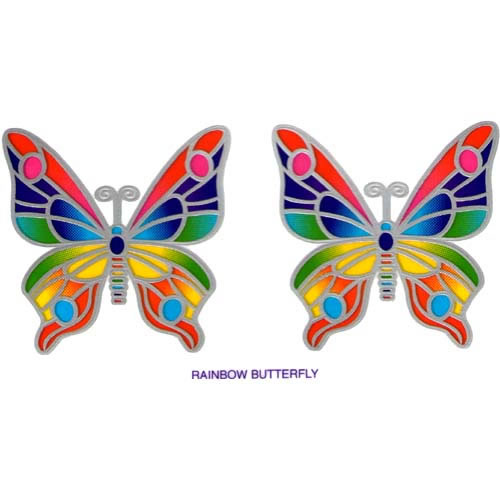 Decal / Window Sticker - Sunlight RAINBOW BUTTERFLY