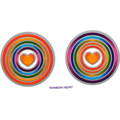 Decal / Window Sticker - Sunlight RAINBOW HEART