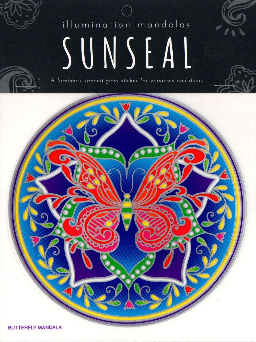 Decal / Window Sticker - Sunseal BUTTERFLY MANDALA