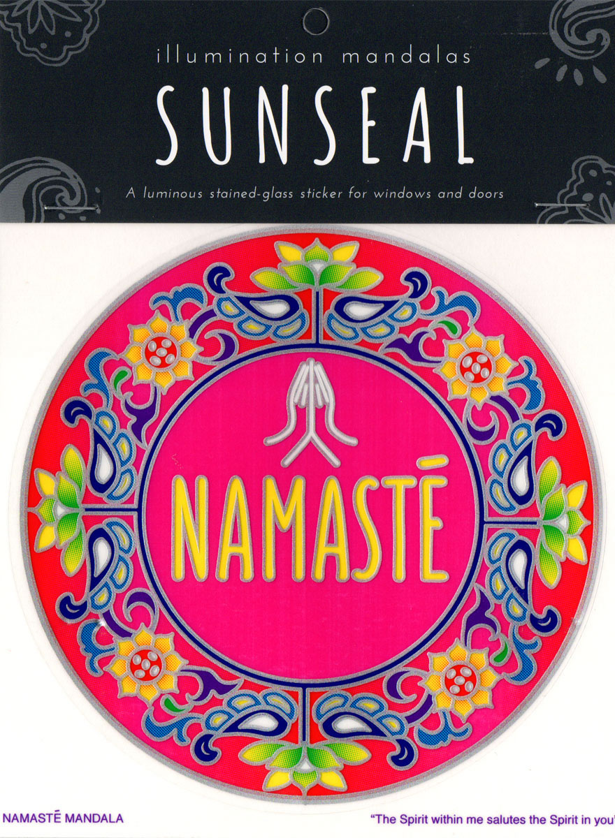 Decal / Window Sticker - Sunseal NAMASTE MANDALA