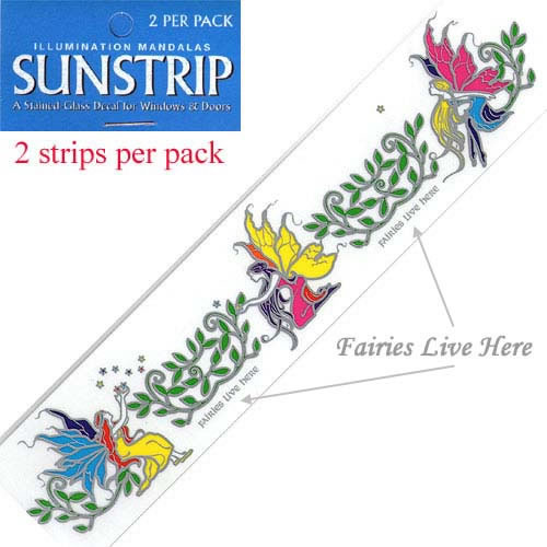 Decal / Window Sticker - Sunstrips FAIRIES LIVE HERE