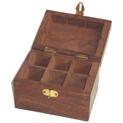 Essential Oil Wooden Storage Box For 6ml Bottles X 6