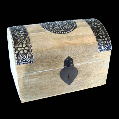 Wooden Jewellery Box TREASURE CHEST - Medium