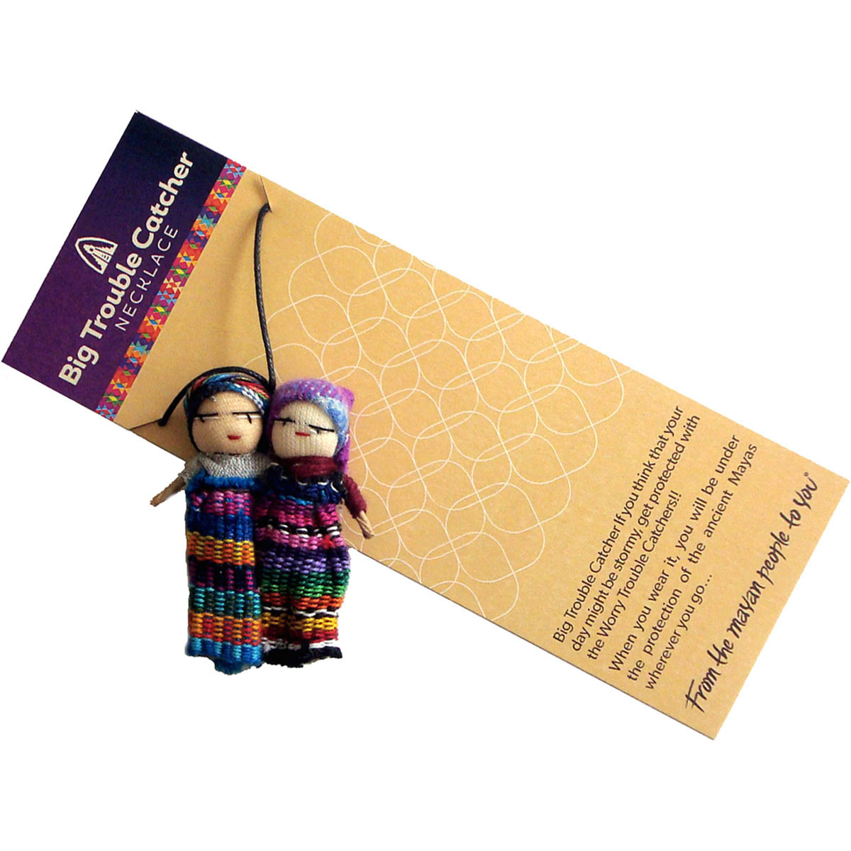 Worry Doll - Big Trouble Worry Doll Necklace
